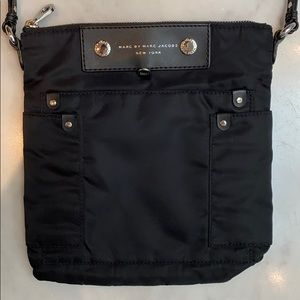 MARC BY MARC JACOBS black nylon/leather purse